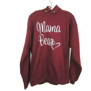 Mama Bear Burgundy Hoodie Sweatshirt M Unisex